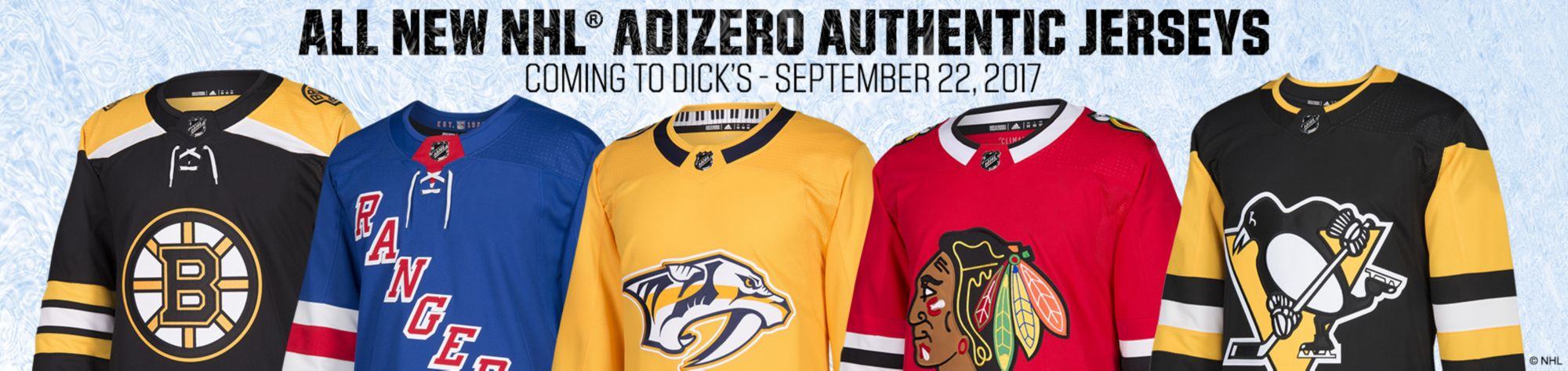 New NHL Adizero Authentic Jerseys
