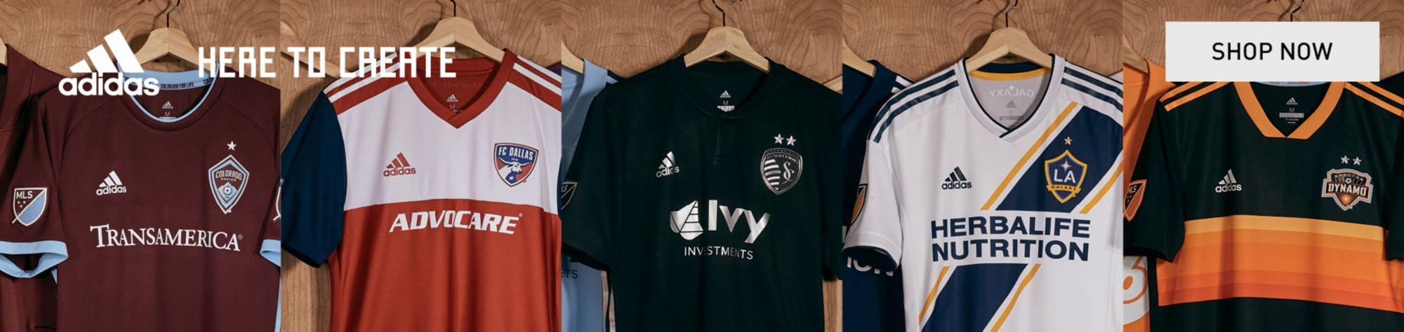 adidas - 2018 MLS Jerseys - Here to Create - Shop Now