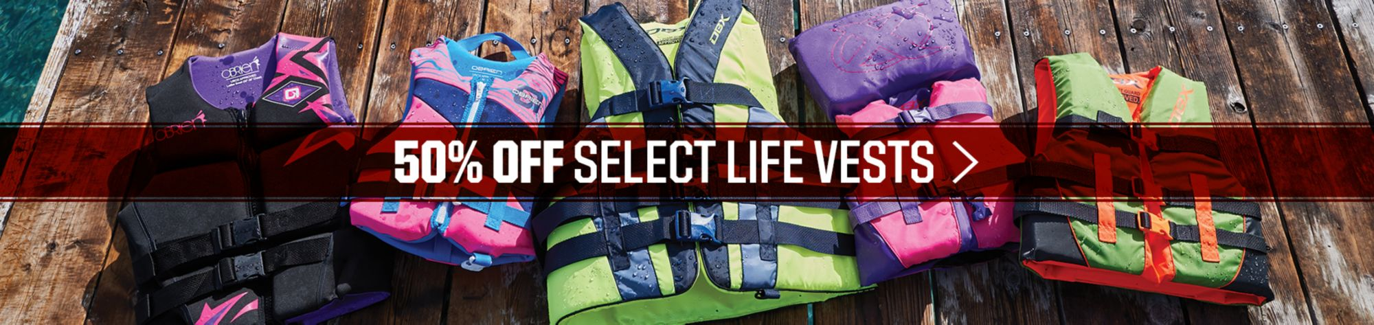50% Off Life Vests