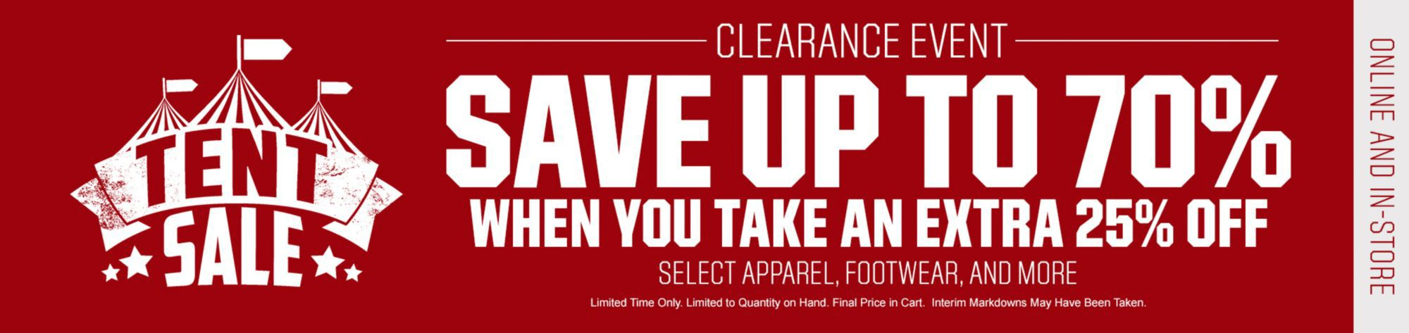 Take An Extra 10-25% Off Select Clearance