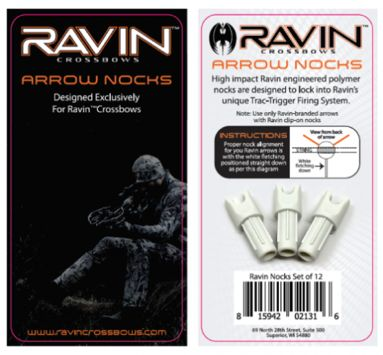 Ravin White Arrow Nocks