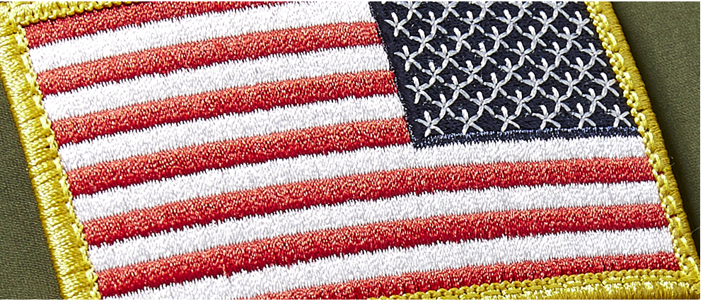 Salute To Service - American Flag Patch