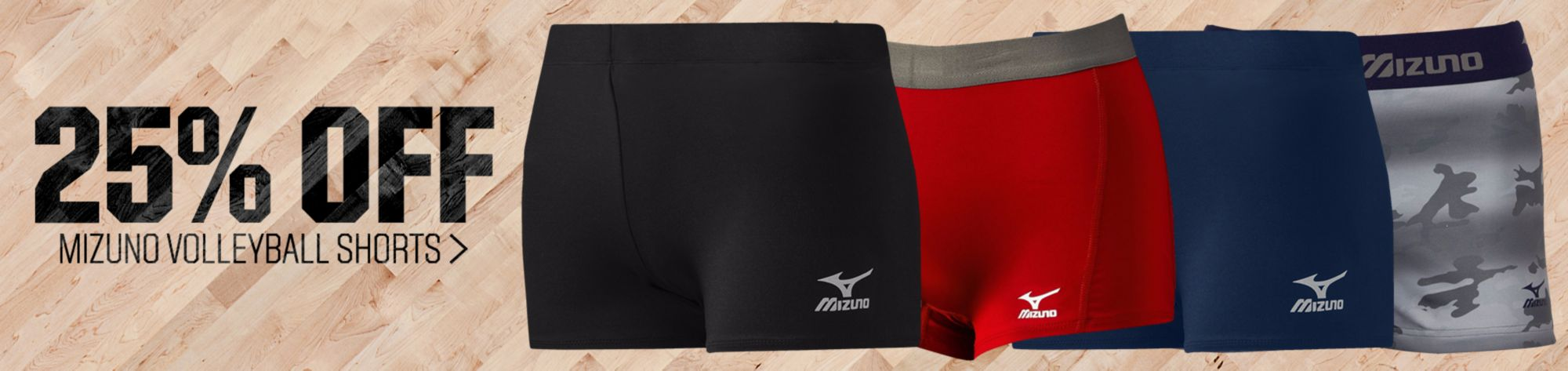 25% off Mizuno Volleyball Shorts