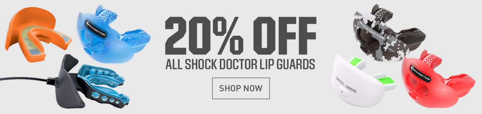 20% Off Shock Doctor Lip Guards