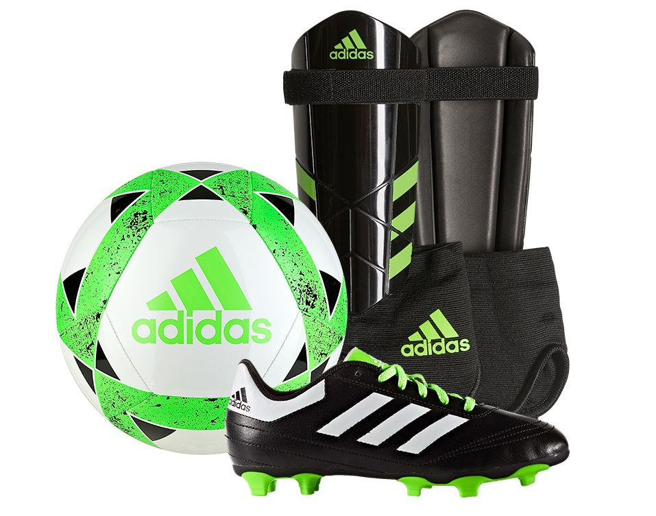 adidas Youth Soccer Starter Kit - Green