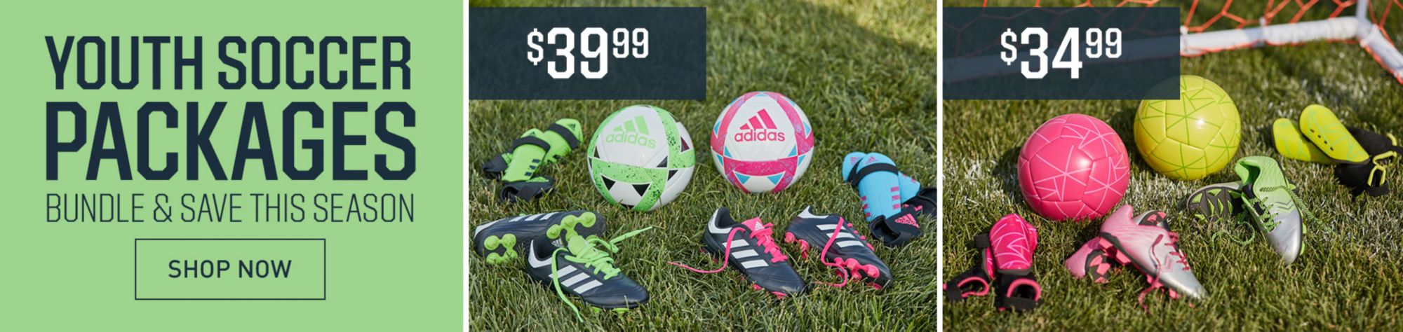 YOUTH SOCCER PACKAGES  Bundle and Save this Soccer Season
