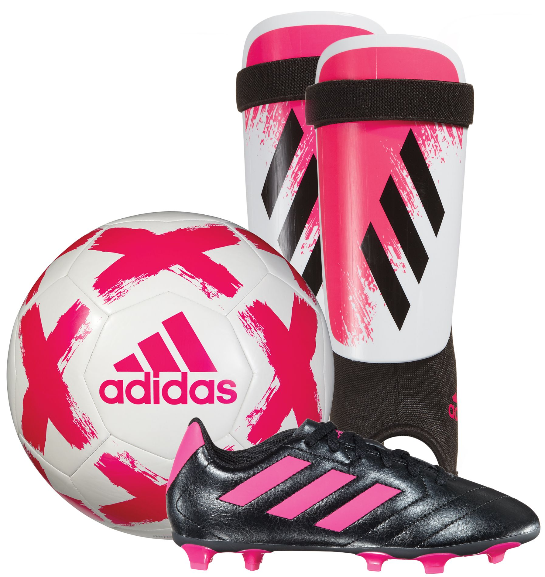 adidas Youth Soccer Starter Kit  - Pink