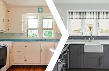 Home kitchen before and after renovation