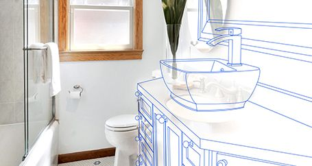 Bathroom sink renovation plans