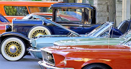 Restored classic cars on display at show