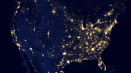 U.S. electric power grid blackout