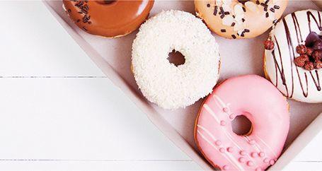 Box of assorted doughnuts
