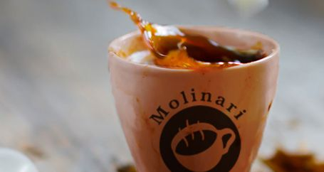 Cups of coffee from Molinari Caffe in Nappa Valley