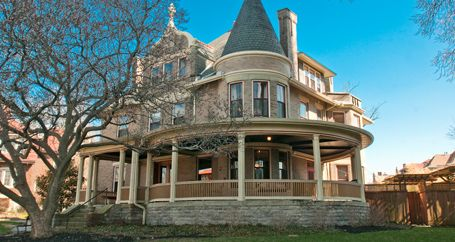 Renovated rooms and exterior of historic Victorian home