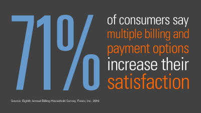 Multiple ways to pay increase consumer satisfaction