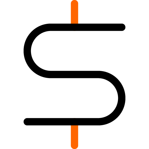 2 color icon dollar symbol