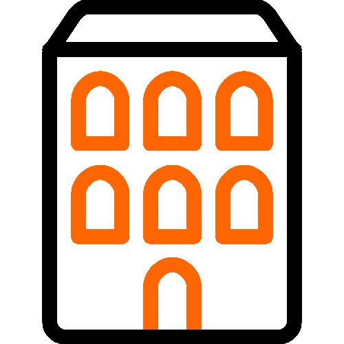 2 color icon building
