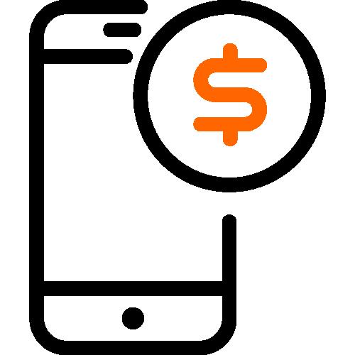 2 color digital banking icon