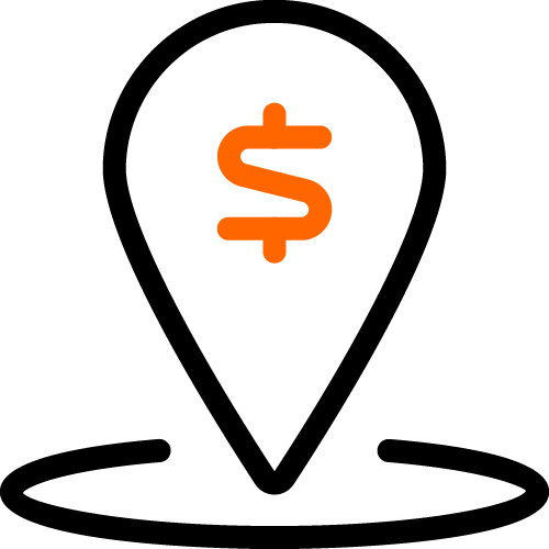 2 color icon money location
