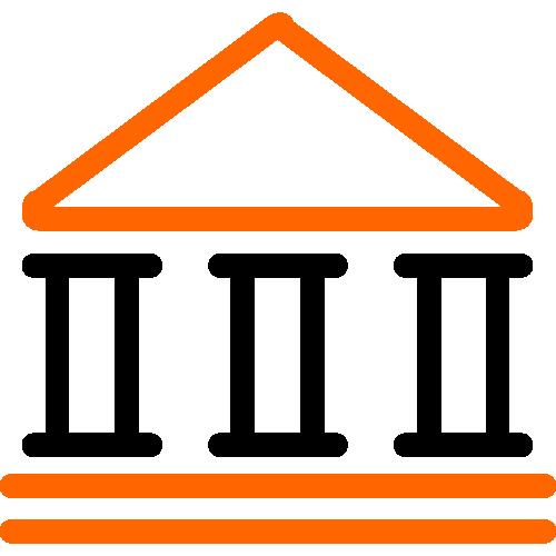 2 color building icon