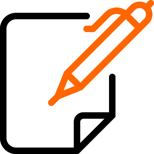 paper and pec 2 color icon