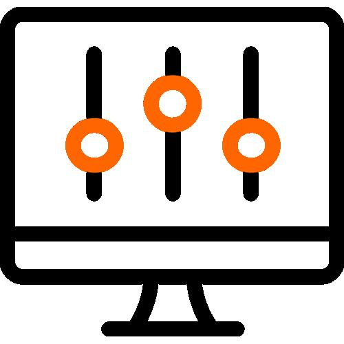 2 color icon computer