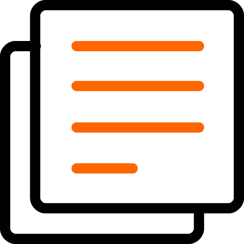 2 color paper icon