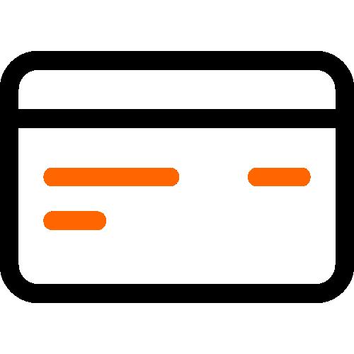 2 color credit card icon