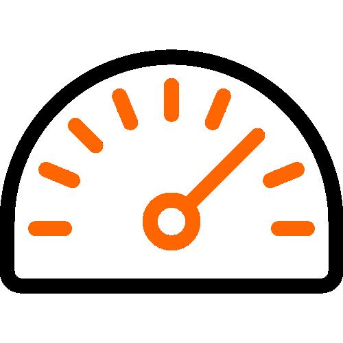 2 color icon speedometer