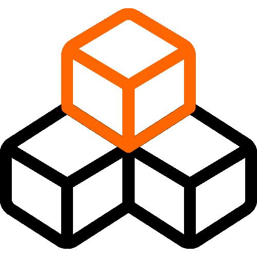 2 color icon 3 blocks