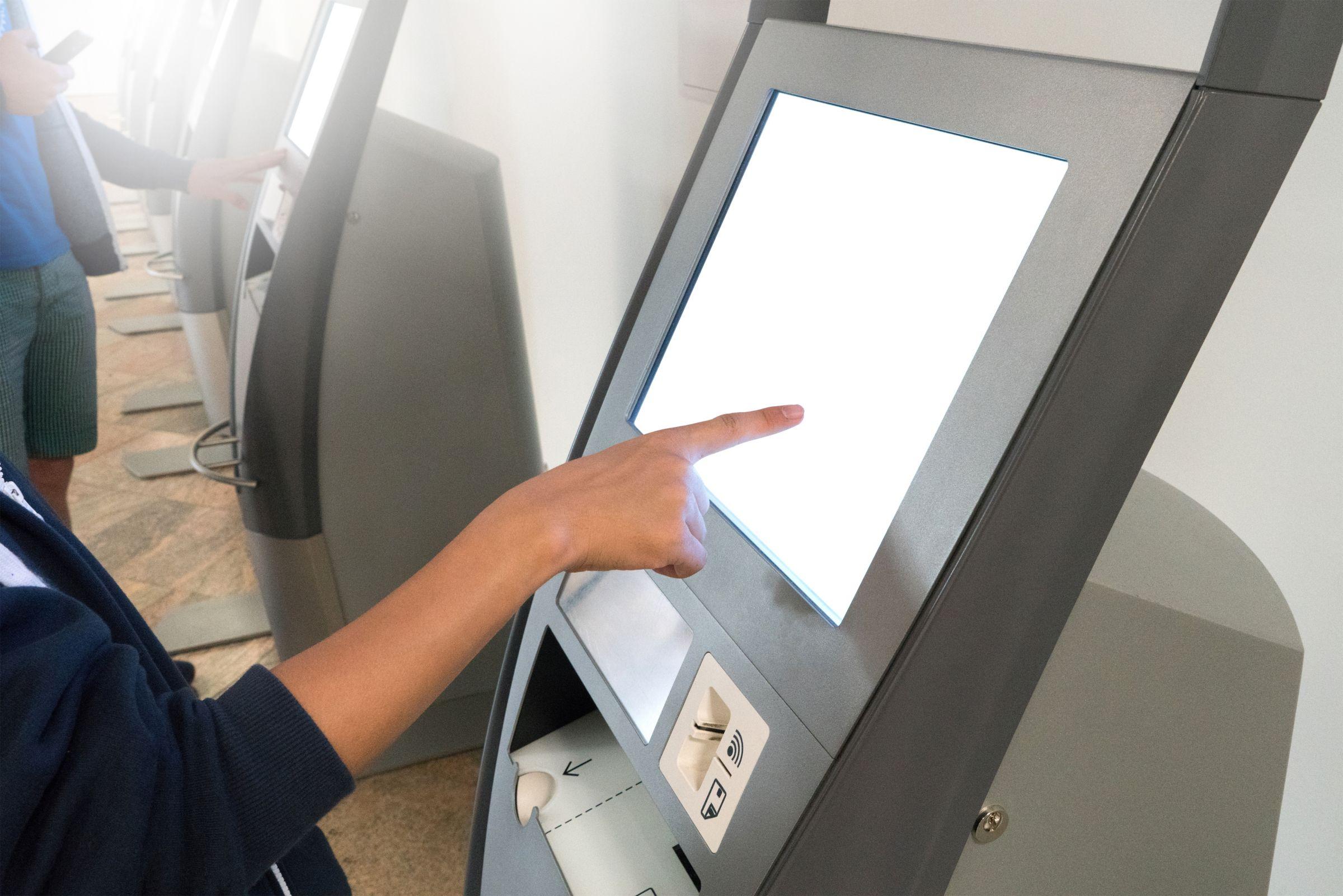 touching a screen