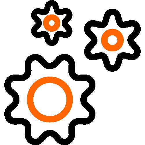2 color icon 3 gears