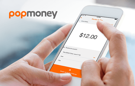 A consumer using the Popmoney app