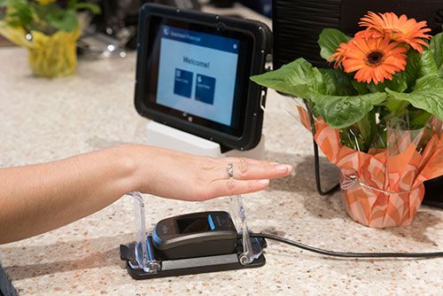 Palm-vein biometric technology