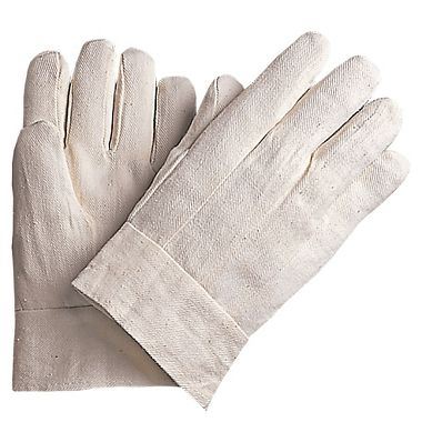 Cotton Canvas Gloves, Men's 8 oz. Band Top Cuff