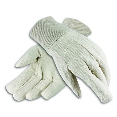 Cotton Canvas Gloves, Men's 10 oz. Knit Wrist