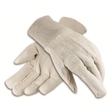 Cotton Canvas Gloves, Men's 12 oz. Knit Wrist, Made in USA