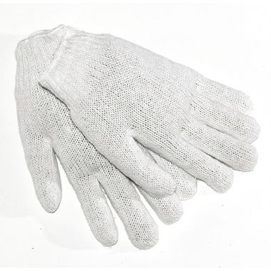 String Knit Gloves, Men's Lightweight Cotton Blend
