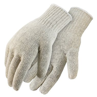 String Knit Gloves, Men's Cotton Blend