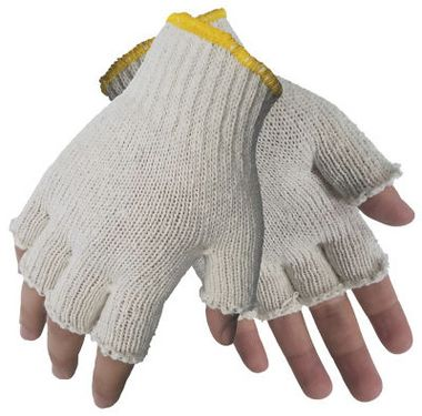 Fingerless String Knit Gloves, Ladies' Cotton Blend