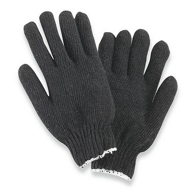 Black String Knit Gloves, Ladies'