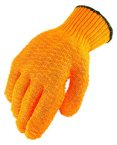 Tacky Grip Criss-Cross Coated String Knit Gloves, 1 Pair