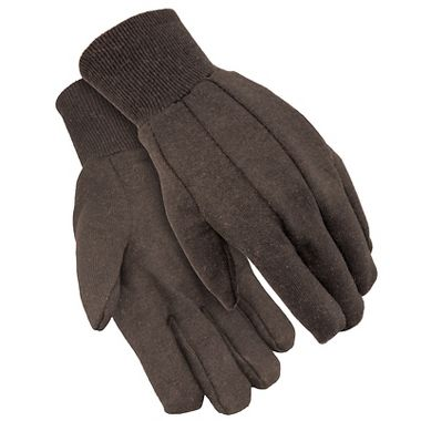 Brown Jersey Gloves, Men's 9 oz, Made in USA