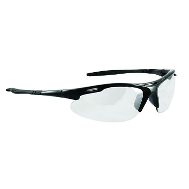 Slot Safety Glasses, Black Frame, Clear Lens