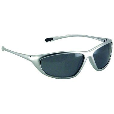 Spyder Safety Glasses, Silver Frame, Fog Free Gray Lens