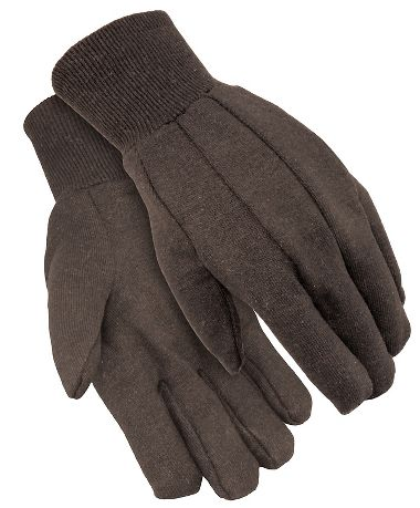 Brown Jersey Gloves, Men's 8 oz.