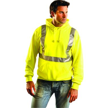 Hi Viz Lightweight Hooded Pullover Sweatshirt