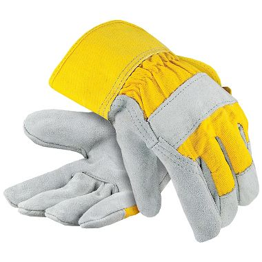 Premium Leather Palm Gloves with Safety Cuff