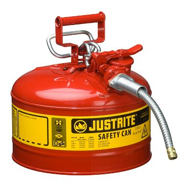 Justrite Type II AccuFlow™ Safety Can