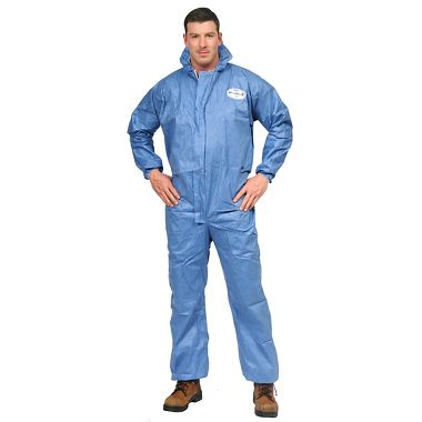 KC A60  Disposable Coverall w/ Zipper Front, Elastic Back, Wrists, Ankles, & Hood